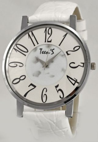 Часы ТИК-ТАК Н723 Белый рем/белый циф