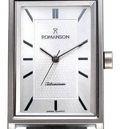 Титановые наручные часы Romanson DL4191SMW(WH)