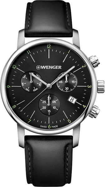 Швейцарские наручные часы Wenger 01.1743.102 с хронографом