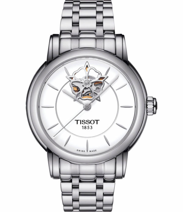 Часы женские  Tissot Lady Heart Flower Powermatic 80 T050.207.11.117.05